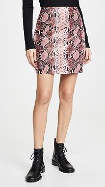 Faux Snake Skin Pattern Miniskirt