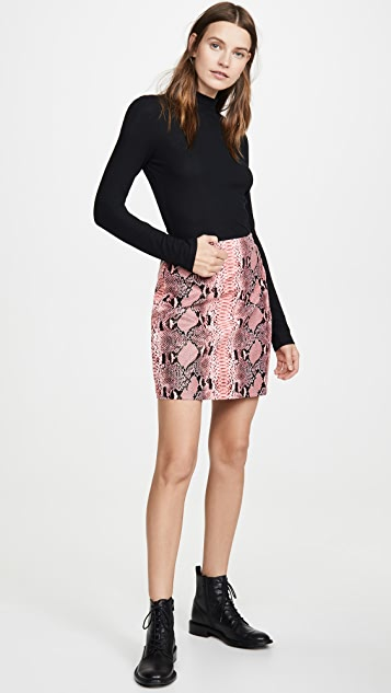 endless rose Faux Snake Skin Pattern Miniskirt