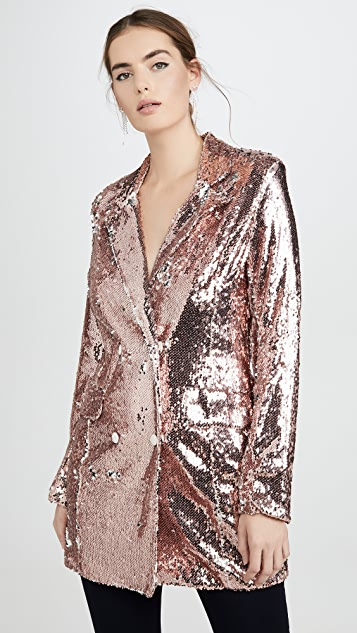 endless rose Sequin Double Breasted Blazer