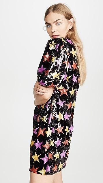 endless rose Sequin Puff Sleeve Dress