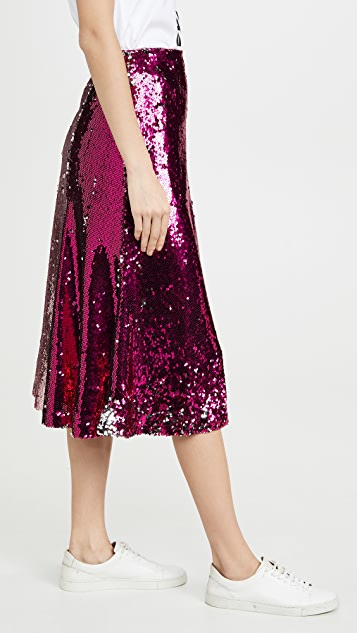 endless rose Colorblock Sequin Skirt