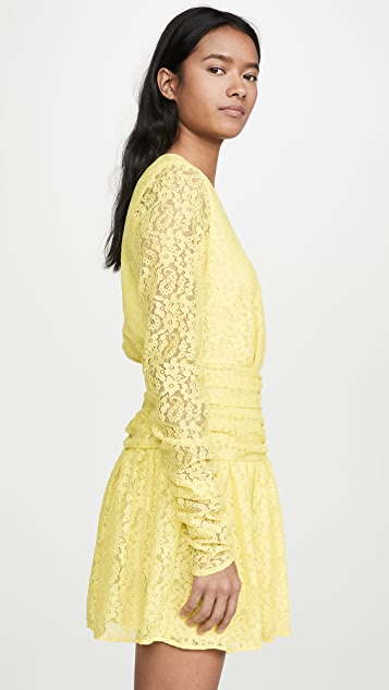 endless rose Lace Ruched Dress