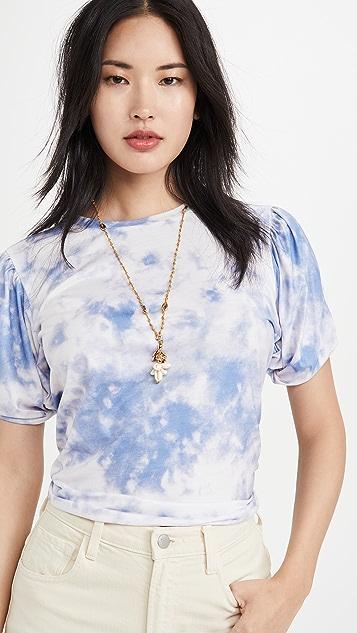 endless rose Twist Puff Sleeve T-Shirt