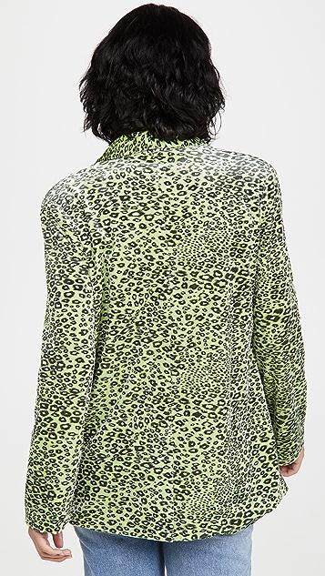 endless rose 豹纹印花西装外套