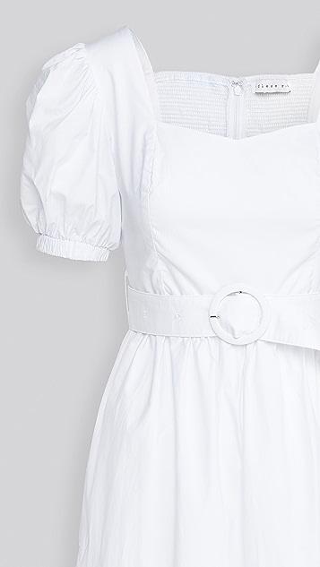 endless rose Puff Short Sleeve Long Dress