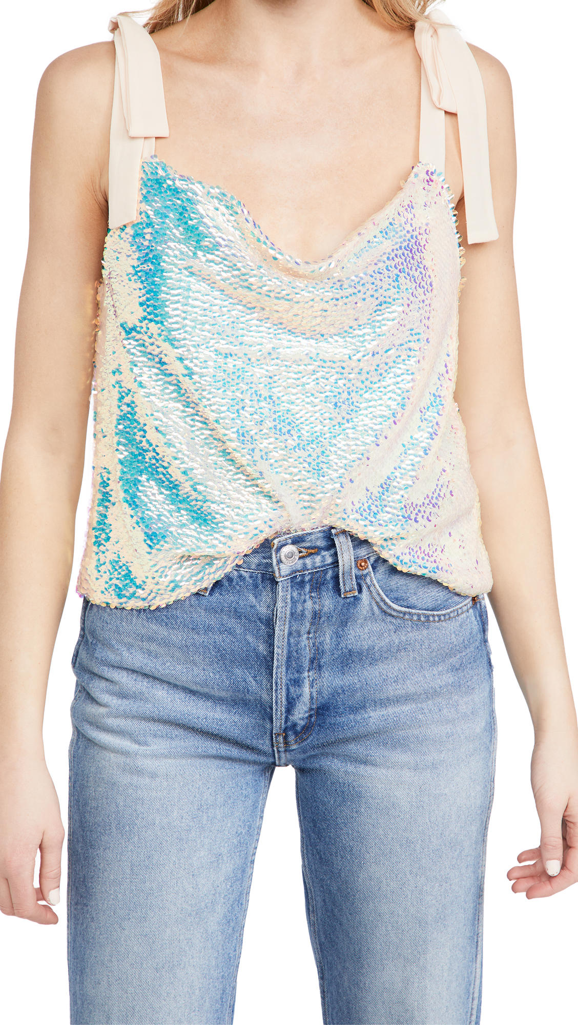 Endless Rose ORORA SEQUIN RIBBON TOP