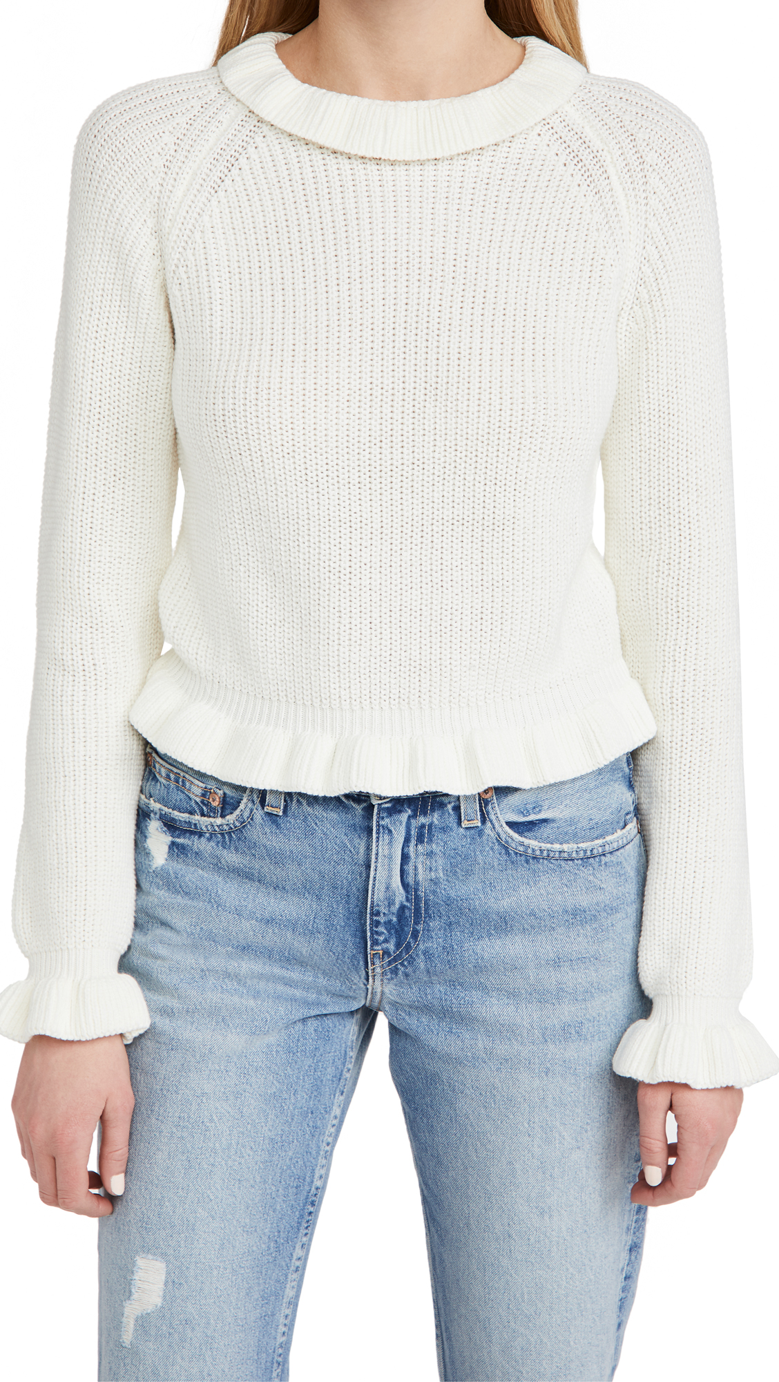 Endless Rose RUFFLE LONG SLEEVE SWEATER