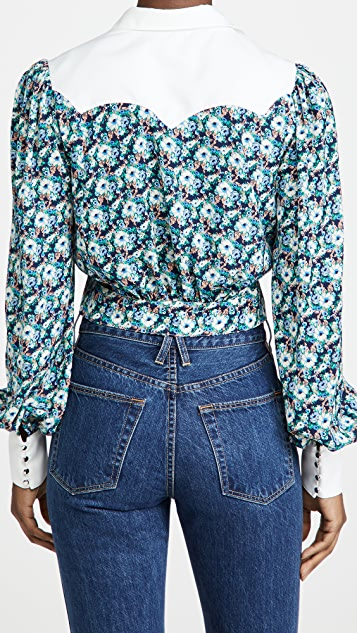 endless rose Floral Collar Detail Shirt