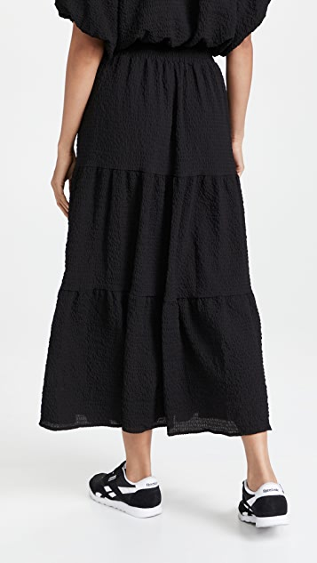 endless rose Tiered Maxi Skirt