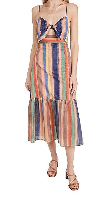 endless rose Striped Maxi Dress