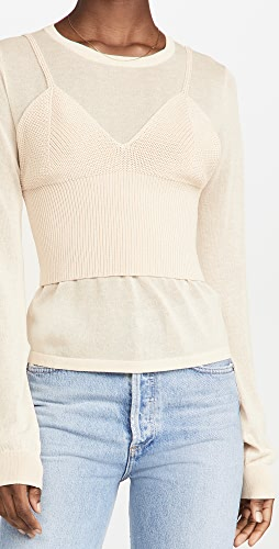 endless rose - Two Piece Knit Top