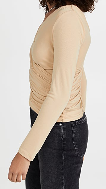 endless rose Shirring Detail Fitted Top