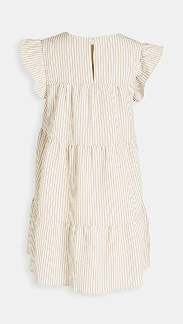 En Saison Striped Tiered Babydoll Dress