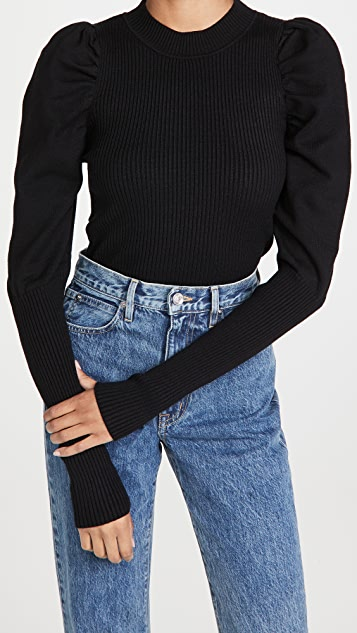 En Saison Puff Sleeve Sweater