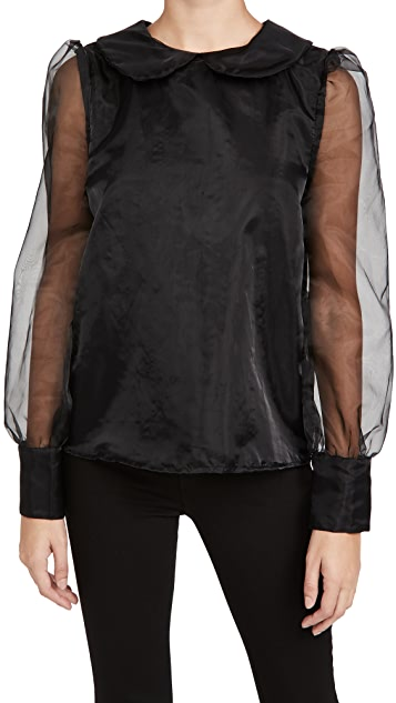 En Saison Organza 有领女士衬衫
