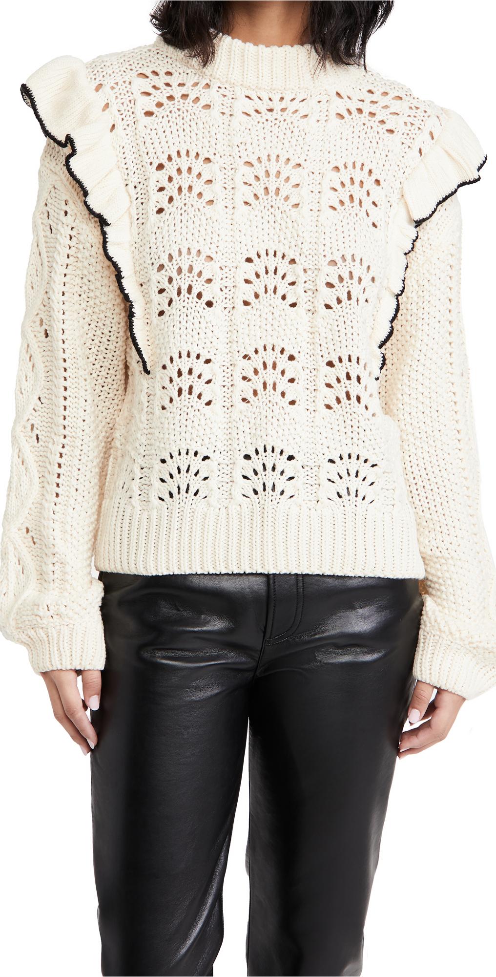 En Saison Ruffled Sweater