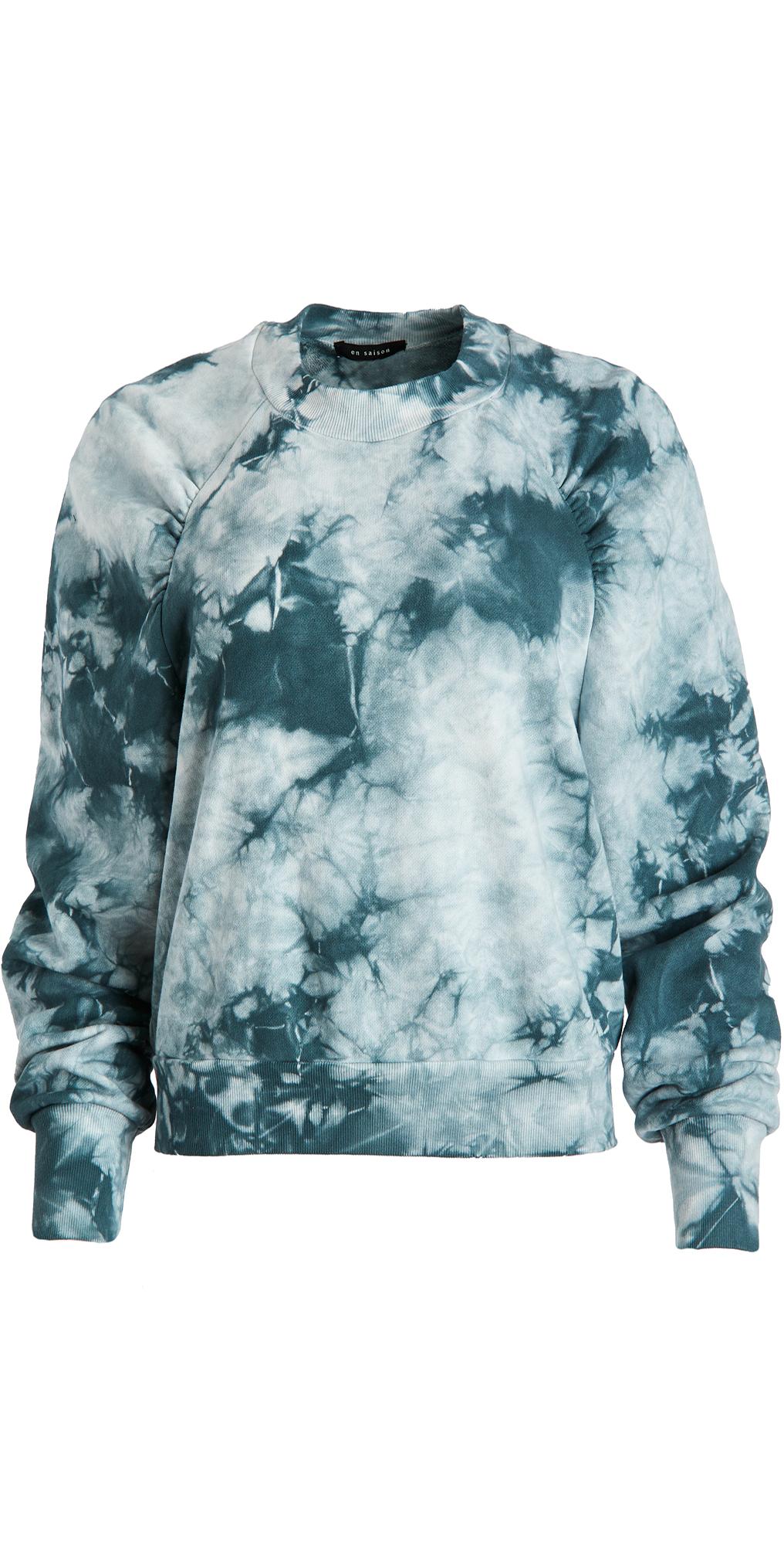 En Saison Tie Dye Puffed Sleeve Sweatshirt