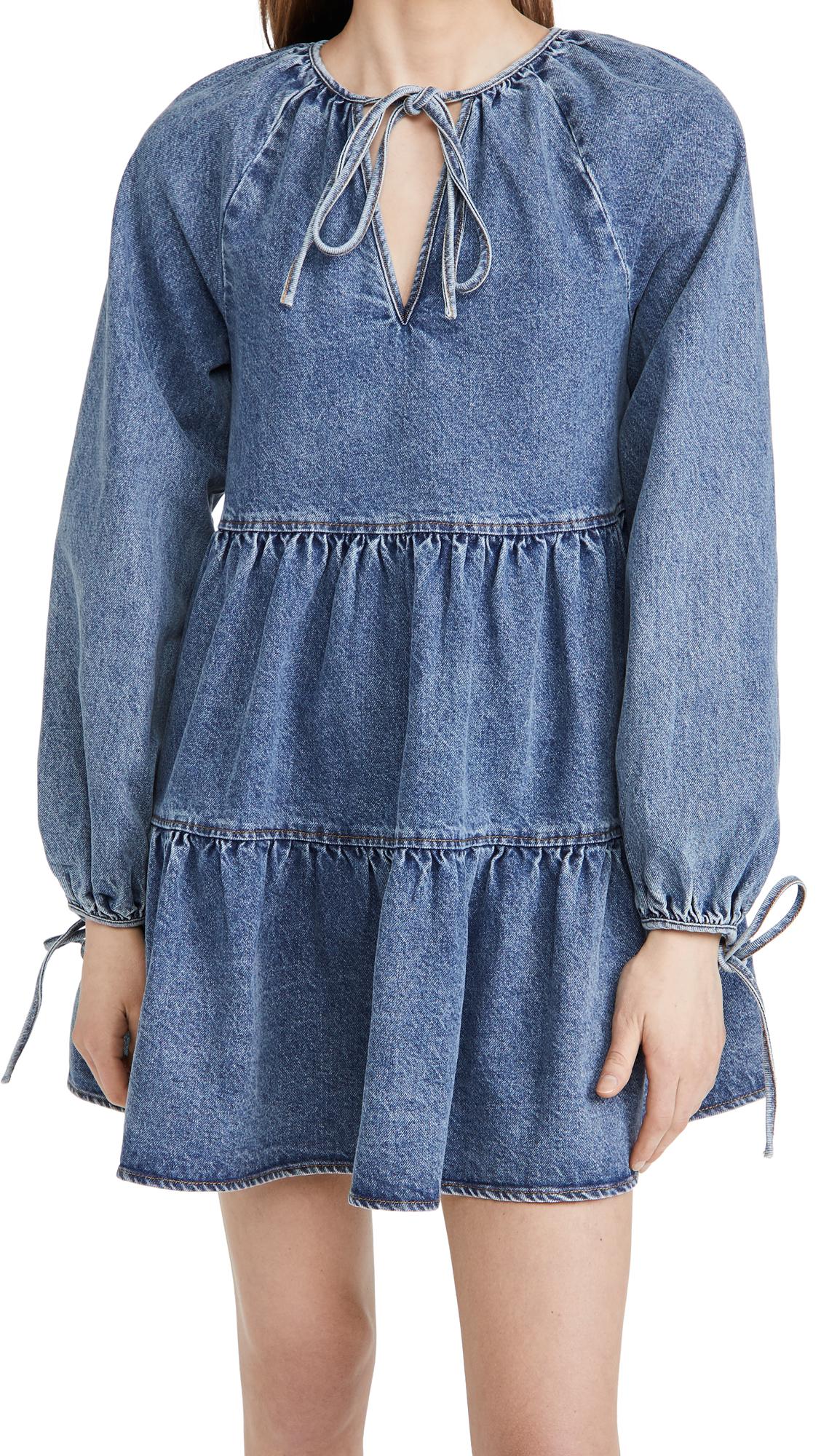 En Saison Denim Babydoll Dress
