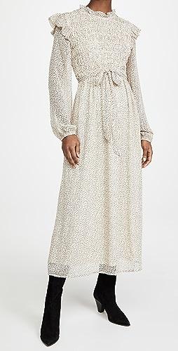 En Saison - Smocked Chiffon Midi Dress