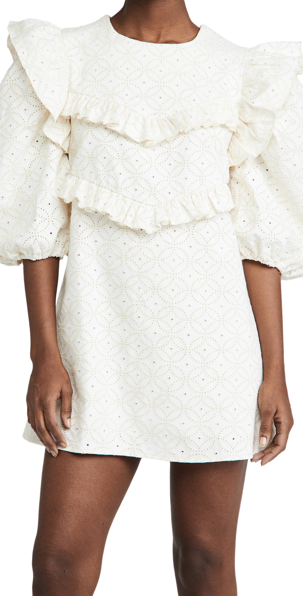 En Saison Embroidered Denim Dress