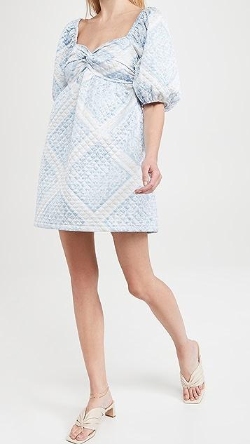 En Saison Quilted Scarf Print Dress
