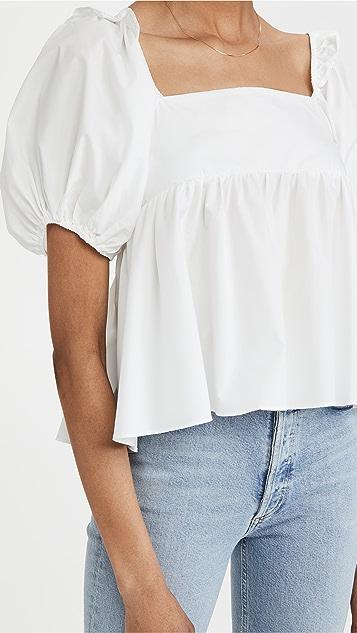En Saison 府绸娃娃装女式衬衫