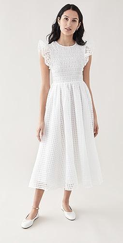 En Saison - Organza Gingham Midi Dress
