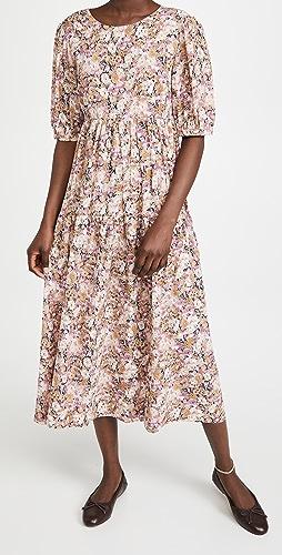 En Saison - Floral Tiered Midi Dress