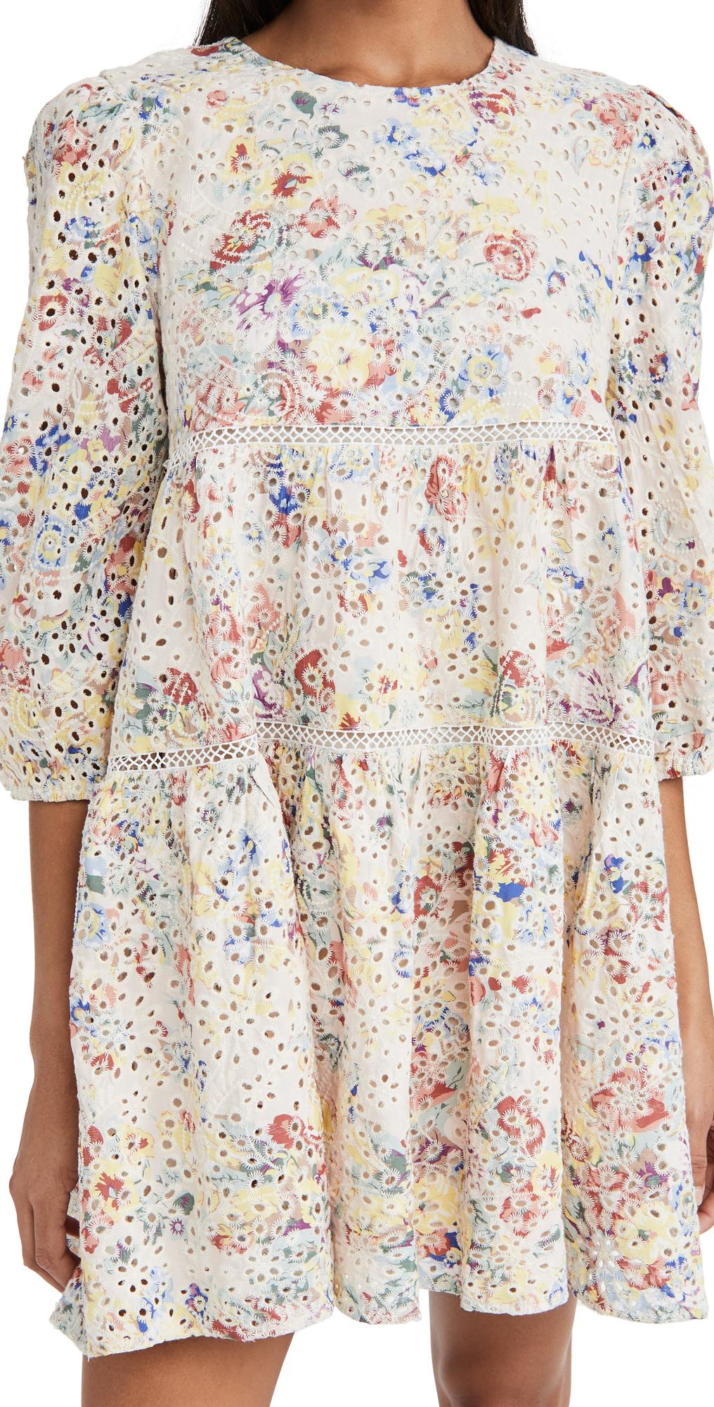 En Saison Eyelet Babydoll Mini Dress
