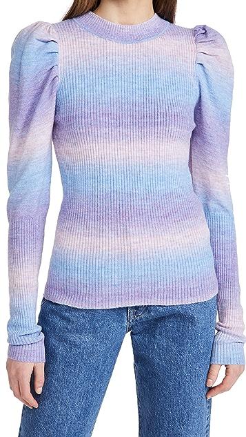 En Saison Puff Sleeve Sweater Top