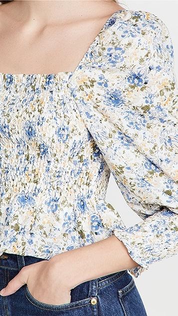 En Saison 花卉雪纺上衣