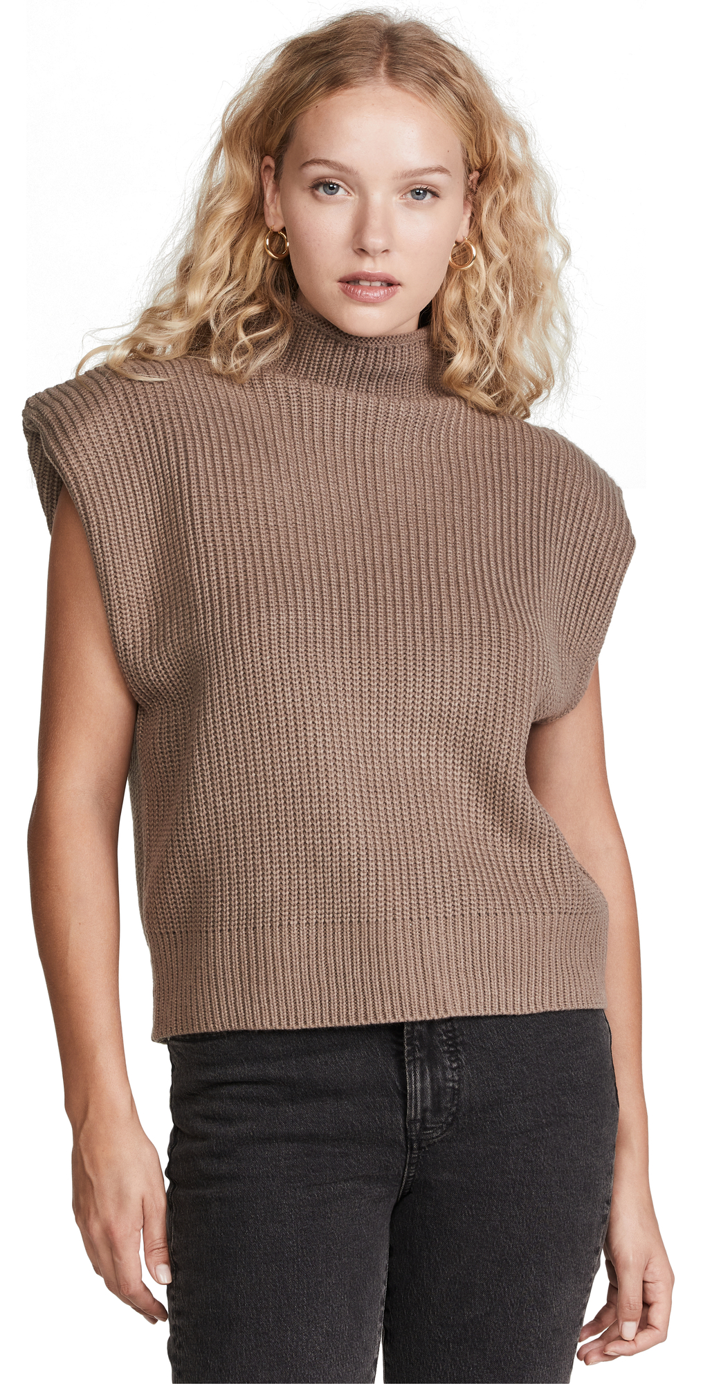 Sweater Pullover with Shoulder Pads