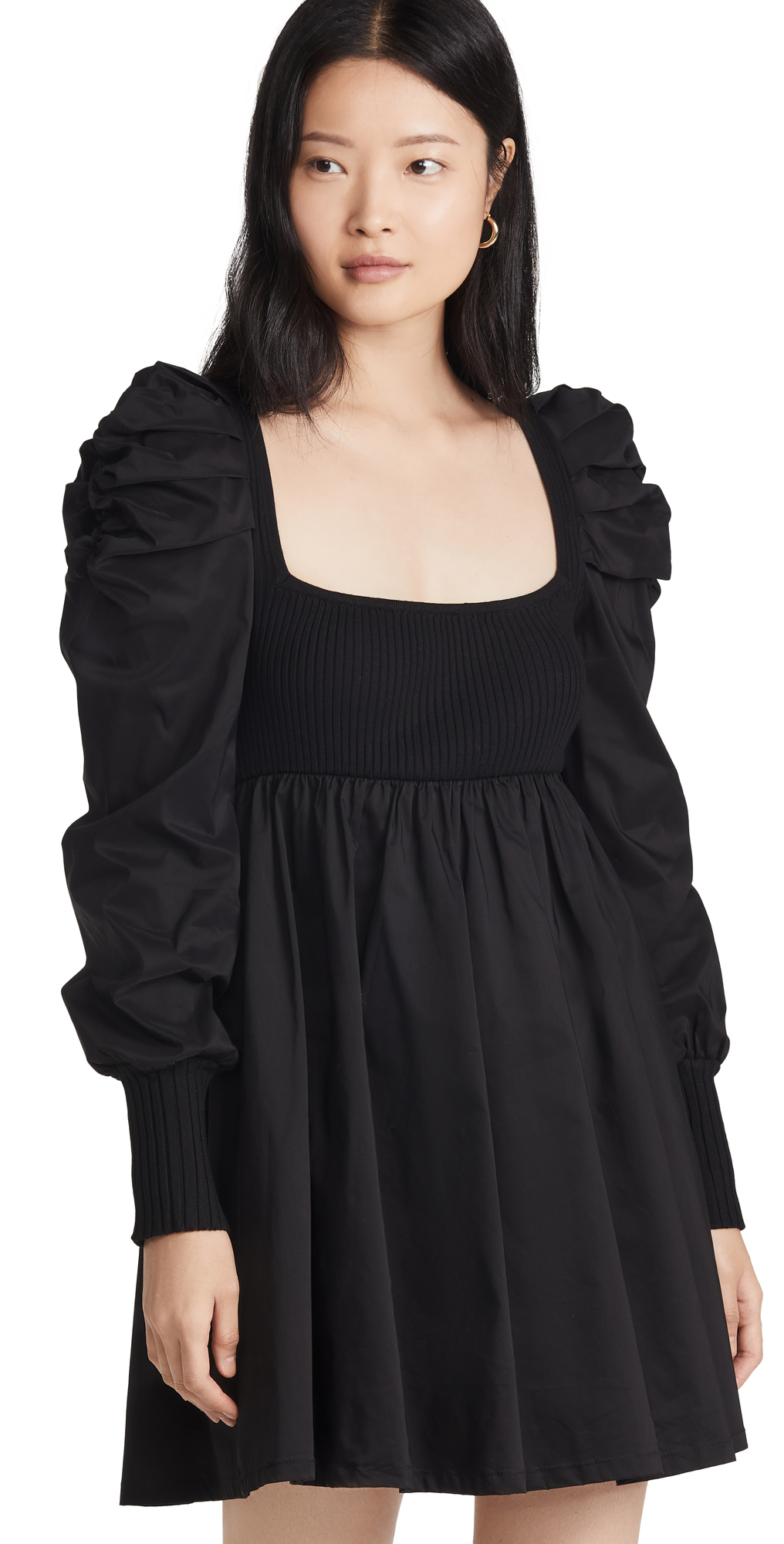 Combination Ruched Dress
