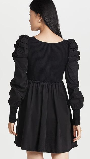 En Saison Combination Ruched Dress