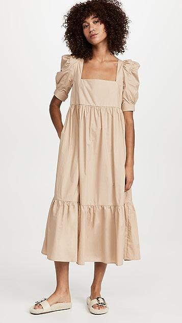 En Saison Square Neck Midi Dress