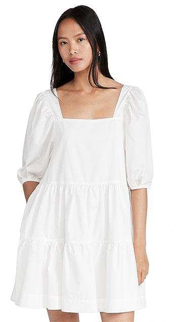 En Saison Poplin Square Neck Mini Dress