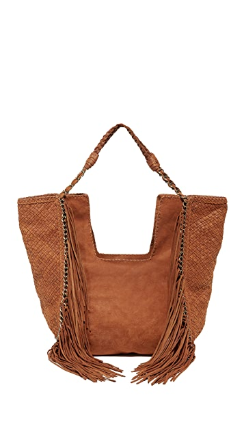 En Shalla Chain & Fringe Bag