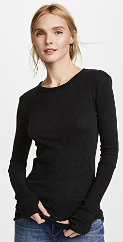 Enza Costa - Cuffed Crew Neck Top