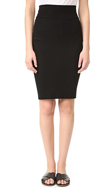 Enza Costa Rib Pencil Skirt