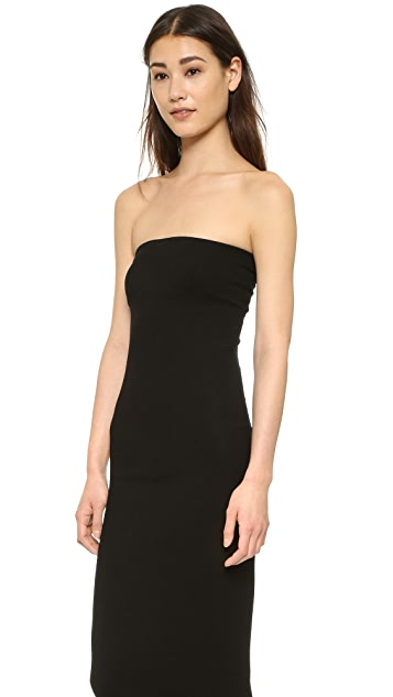 Enza Costa Strapless Rib Dress