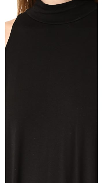 Enza Costa Mock Neck Mini Swing Dress