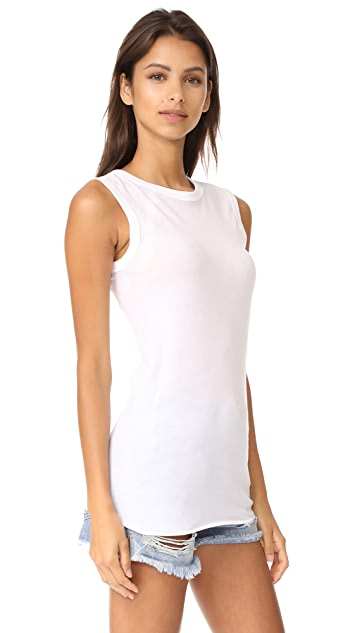 Enza Costa Fitted Muscle Tee