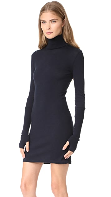 Enza Costa Cuffed Turtleneck Dress