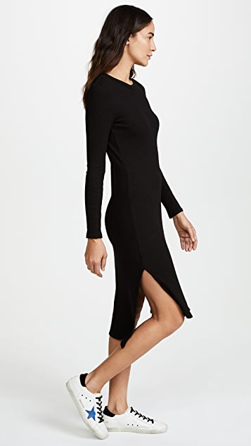 Enza Costa Ribbed Midi Dress