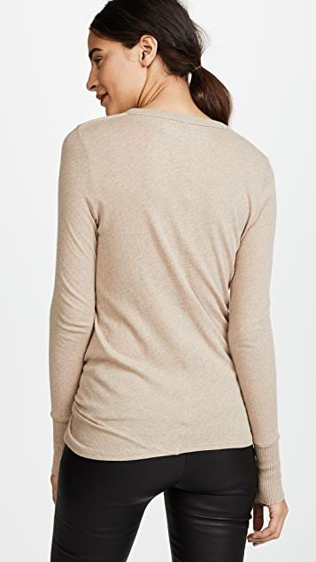 Enza Costa Side Knot Long Sleeve Tee
