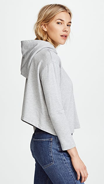Cropped Hoodie in Pink. - size S (also in M,XS) Enza Costa
