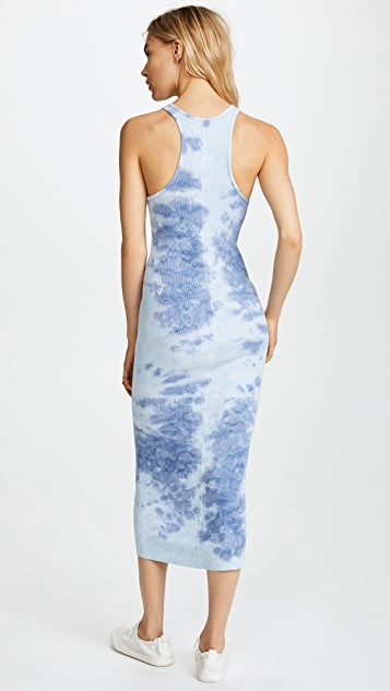 Enza Costa Rib Sheath Tank Midi Dress