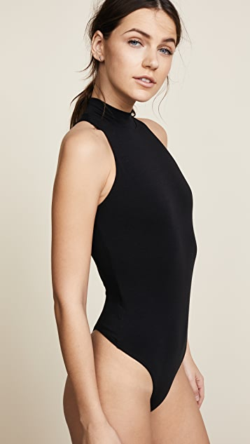 Enza Costa Mock Neck Tank Bodysuit