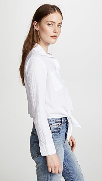 Enza Costa L/S Front Tie Shirt