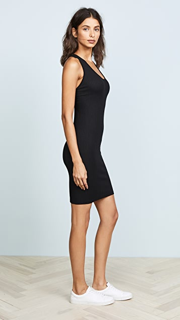 Enza Costa Rib Cross Back Mini Dress